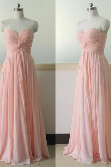 Pink Sweetheart Chiffon Bridesmaid Dress Floor Length Bridesmaid gown Royal Blue Bridesmaid dress Floor Length Bridesmaid dresses Prom Party Gown Wedding Party Gown Beach Wedding Bridesmaid dress